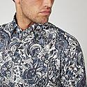 Paisley Cotton Shirt, ${color}