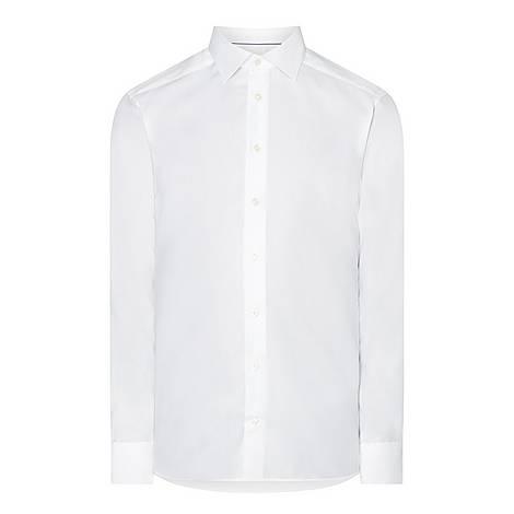 Slim Textured Shirt , ${color}