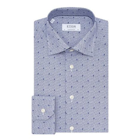 Micro Bird Print Shirt, ${color}