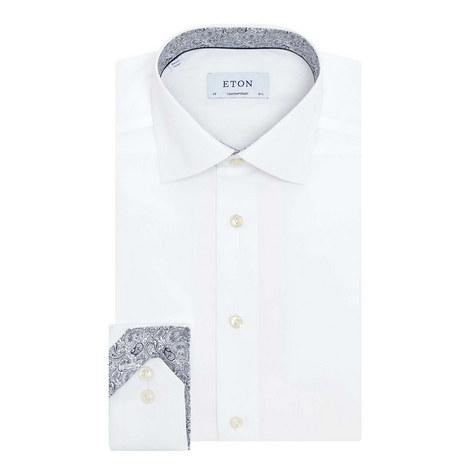 Contemporary Paisley Trim Shirt, ${color}
