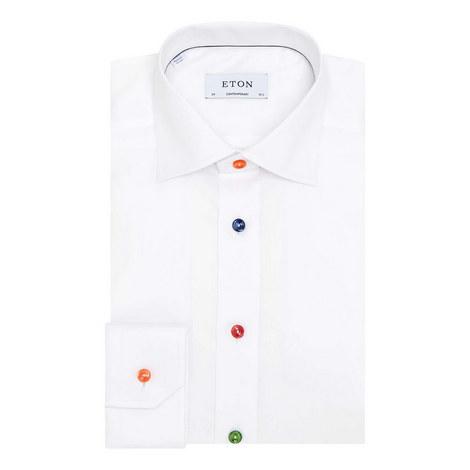 Multi-Coloured Button Twill Shirt, ${color}