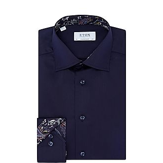 Twill Paisley Trim Shirt