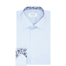 Twill Floral Collar Shirt