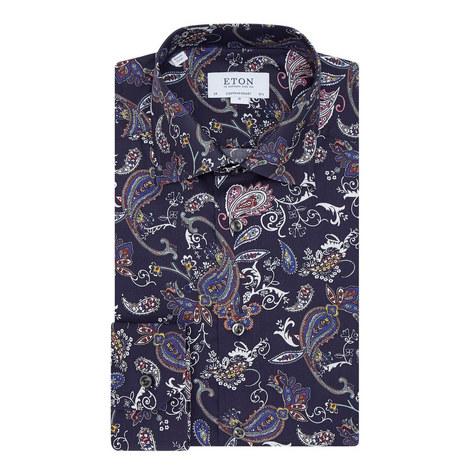 Paisley Print Shirt, ${color}