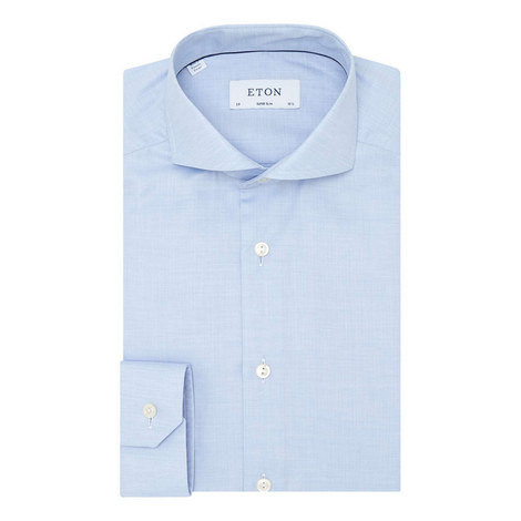 Mini Herringbone Slim Fit Shirt, ${color}
