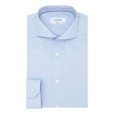Mini Herringbone Slim Fit Shirt