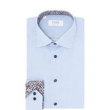 Striped Floral Collar Shirt