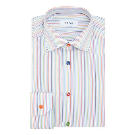 Stripe Twill Shirt, ${color}