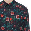 Tropical Flower Print Shirt, ${color}