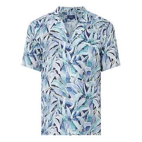 Palm Print Resort Shirt, ${color}