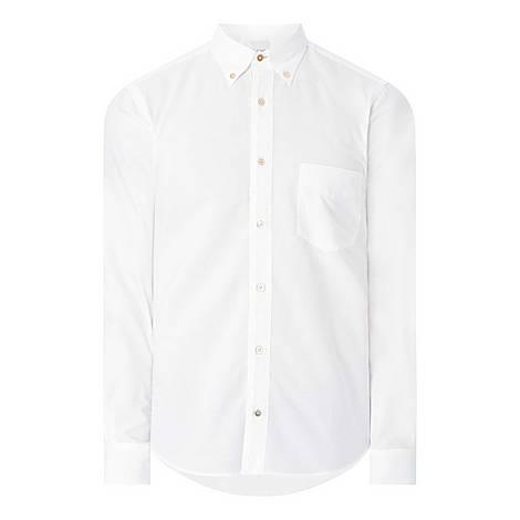 Stripe Detail Formal Shirt, ${color}