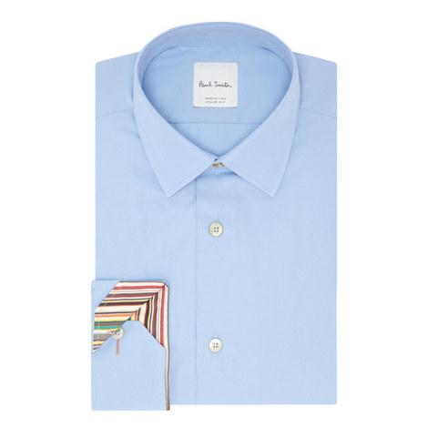 Striped Trim Shirt, ${color}