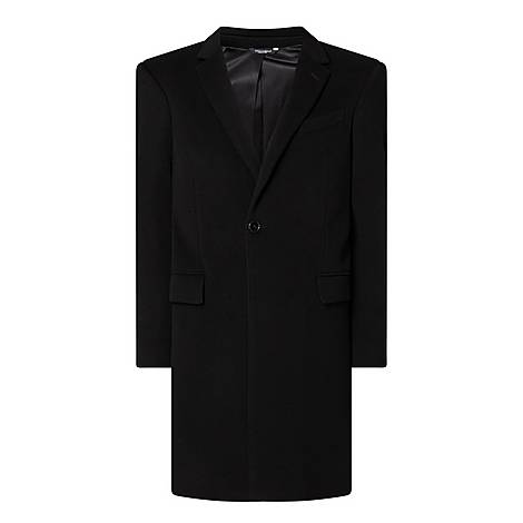 Single-breasted Wool and Cashmere Coat, ${color}