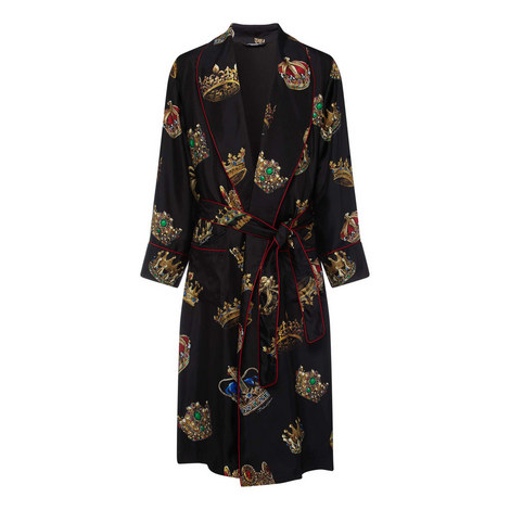 Multicrown Printed Robe, ${color}