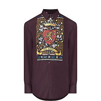 Crest Panel Silk Shirt