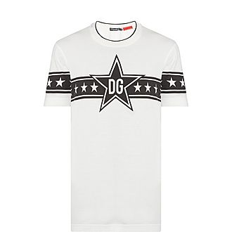 D&G Stripe Star Print T-Shirt