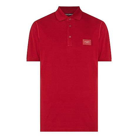 Logo Plaque Polo Shirt, ${color}