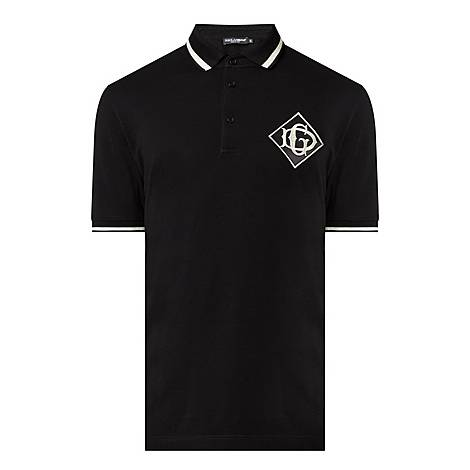 Contrast-Tipped Polo Shirt, ${color}