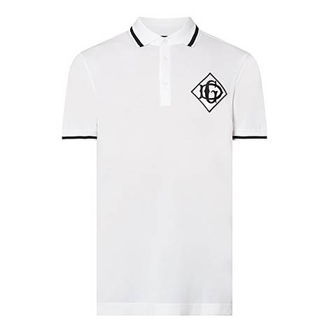 Contrast-Tipped Polo T-Shirt, ${color}