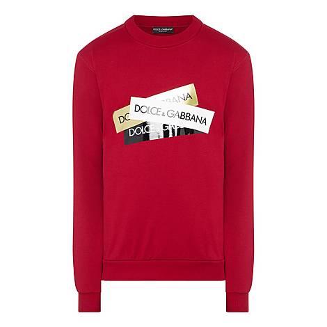 Tape Logo Sweatshirt, ${color}