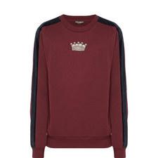 Velvet Stripe Sweatshirt