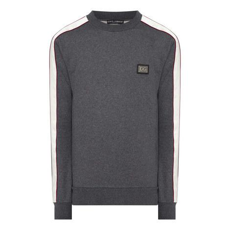 Plaque Stripe Sweatshirt, ${color}