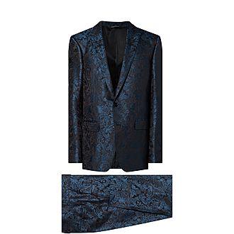 Floral Jaquard Suit