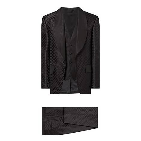 Three-Piece Jacquard Suit, ${color}