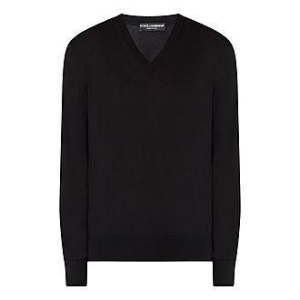 Plain V-Neck Sweater