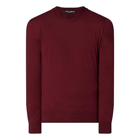 Plain Crew Neck Sweater, ${color}