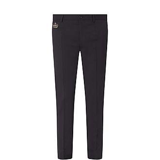 Wool Trim Trousers