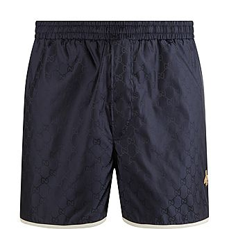 Piped Bee Swim Shorts