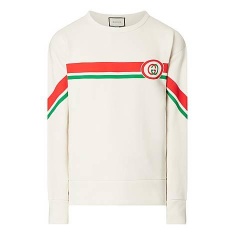 Stripe Fake GG Sweatshirt, ${color}