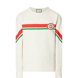 Stripe Fake GG Sweatshirt