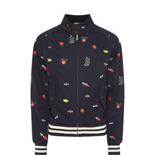 Embroidered Detail Bomber Jacket