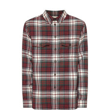 Embroidered Logo Check Shirt