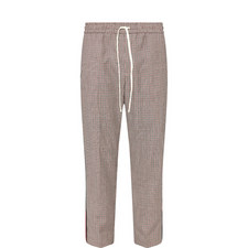 Houndstooth Wool-Mohair Trousers