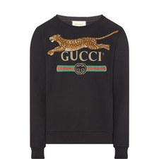 Logo Leopard Appliqué Sweatshirt