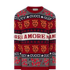 Tiger Snake Print Sweater