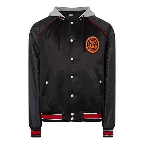 Logo Sleeve Bomber Jacket, ${color}