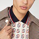 GG Logo Print Polo Shirt, ${color}