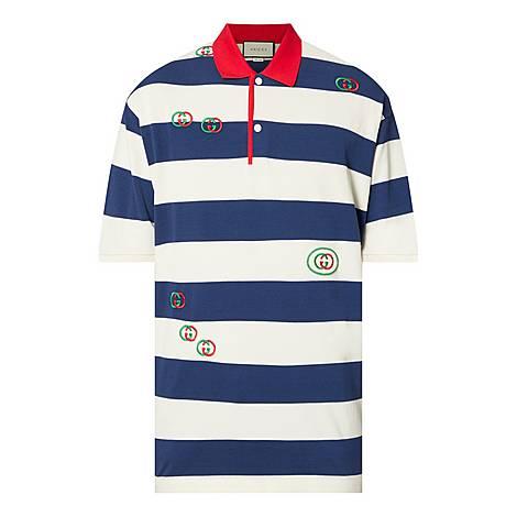 Bone Stripe Polo Shirt, ${color}