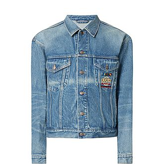 World Logo Denim Jacket