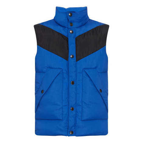 Colour Block Sleeveless Puffa Jacket, ${color}