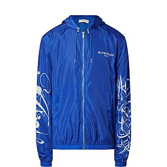 Logo Print Shell Jacket