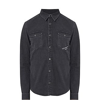 Denim Logo Stamp Shirt