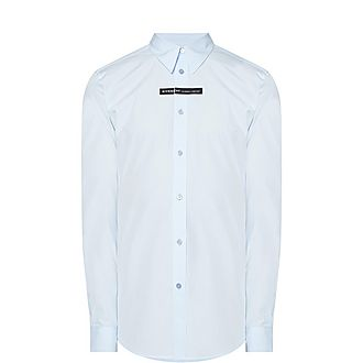 Logo Band Cotton Poplin Shirt