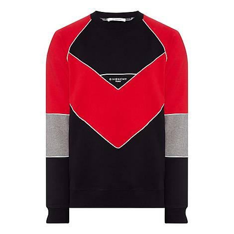 V Print Sweatshirt, ${color}