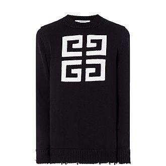 Distressed Logo Sweater