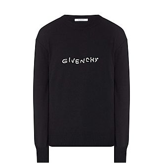 Stitched Logo Sweater
